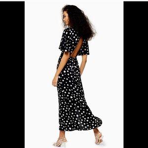 Topshop Austin Spot Midi Dress